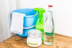 Baking soda with vinegar, natural mix for effective house cleaning